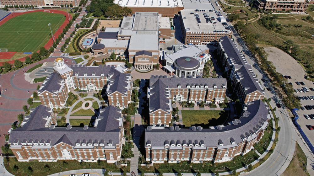 Project name: Southern Methodist University  Project location: Dallas  Project duration: October 2012-July 2014  Roof system types: Copper; polymer-modified bitumen; slate  Roofing contractor: Supreme Roofing, Dallas  Roofing manufacturers: Evergreen Slate Co. Inc., Granville, N.Y.; GCP Applied Technologies Inc., Cambridge, Mass.; Johns Manville, Denver; McElroy Metal, Bossier City, La.; USG Corp., Chicago