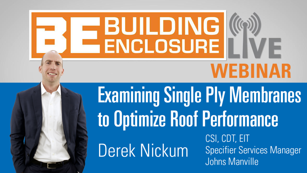 Derek Nickum, EIT, CDT , joined Johns Manville in May 2013. He has a bachelor of science degree in architectural engineering from the University of Colorado in Boulder, Colorado.