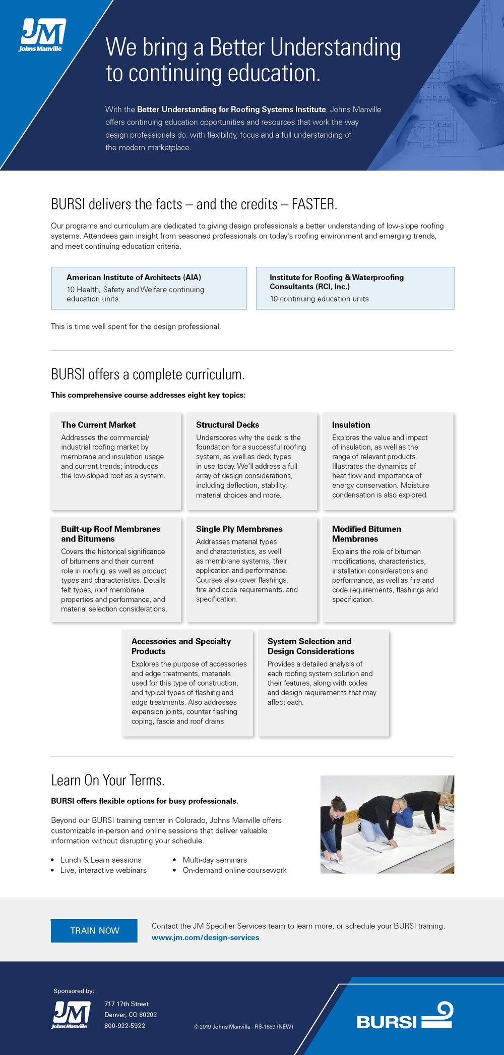 BURSI - Better Understanding of Roofing Systems Institute