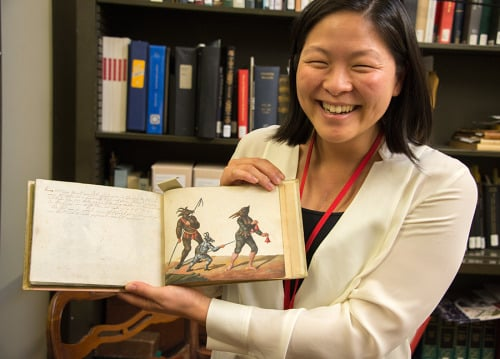 Me with the Huntington's Schembartbuch