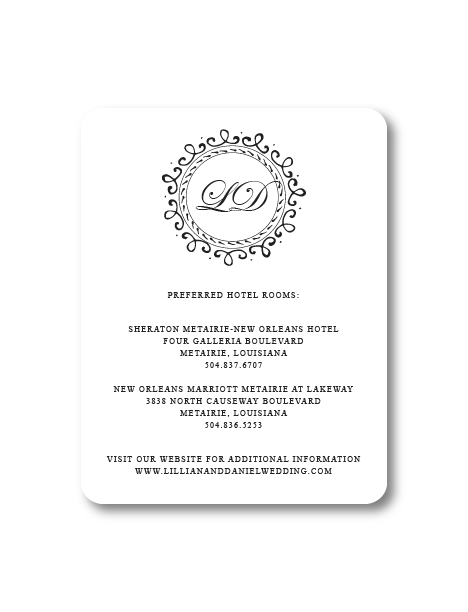 Put it on paper stationery annabelle wedding invitation collection large enclosure card rounded stopboris Gallery