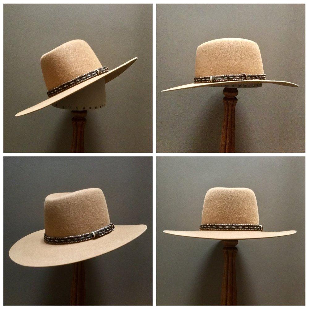 Material: Color: Camel Brim Set: Naturalist Trim: Braided Horsehair