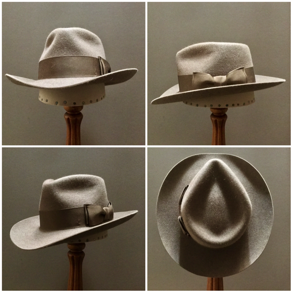 Material: 100% Beaver  Color: Natural Brim Set: Round Up Trim: 2 inch Grosgrain Ribbon