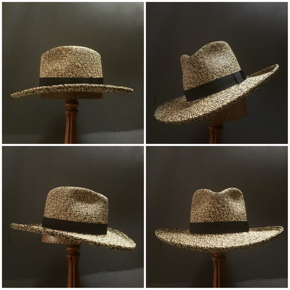 Weave: Perdiz Grade: N/A Brim Set: San Ann with 90 Degree Brim Curl Trim: 1 inch Grosgrain Ribbon with Flat Bow