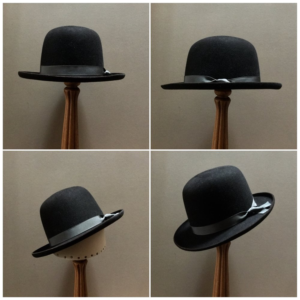 Material: 100% Beaver Color: Black Cherry Brim Set: Round Up with 45 Degree Pencil Curl Trim: Grosgrain Ribbon