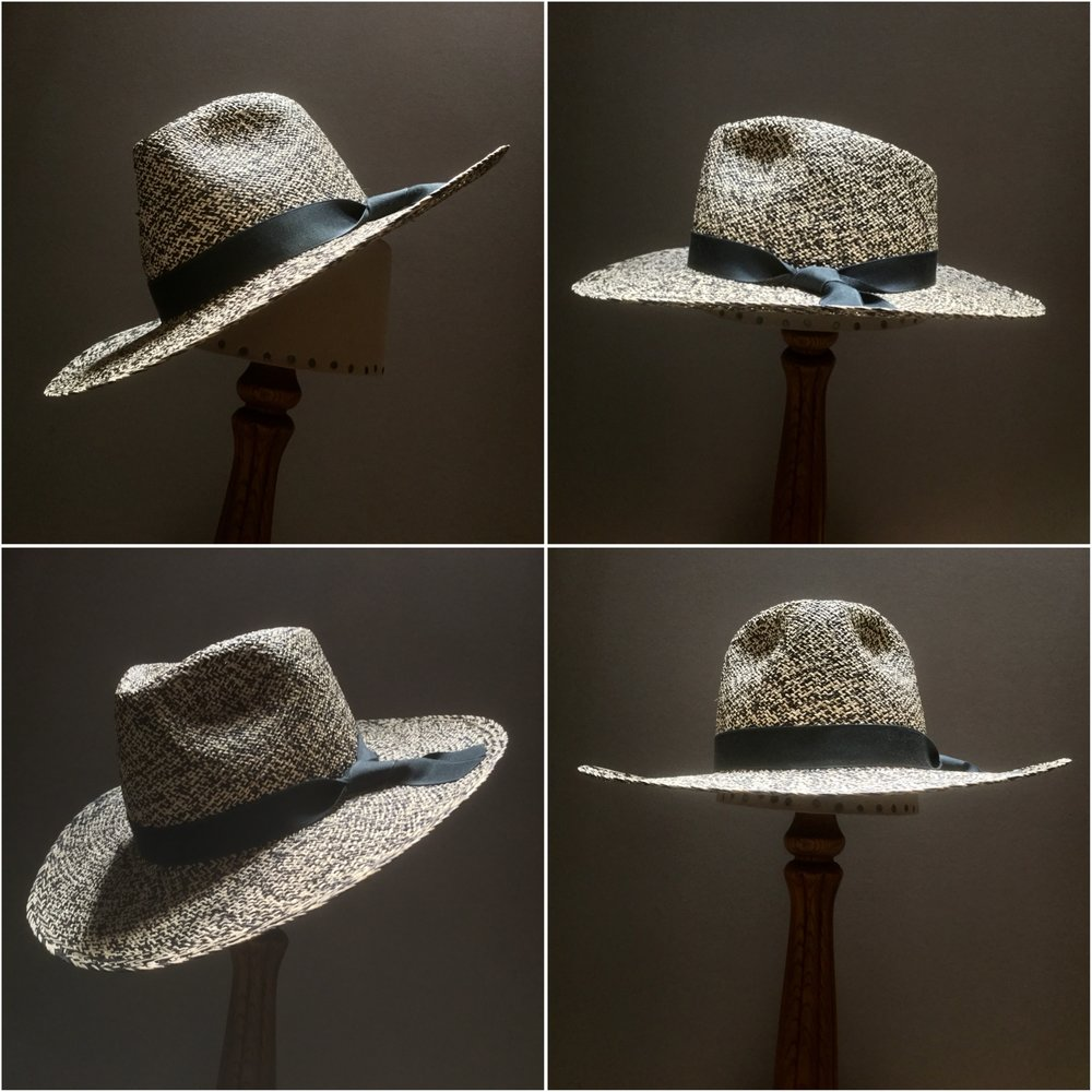 Weave: Perdiz Grade: N/A Brim Set: San Ann Trim: 7/8 inch grosgrain ribbon