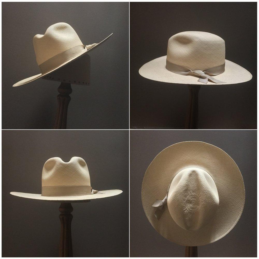 Weave: Cuenca Grade: 16 Brim Set: San Ann Trim: 7/8 inch grosgrain ribbon