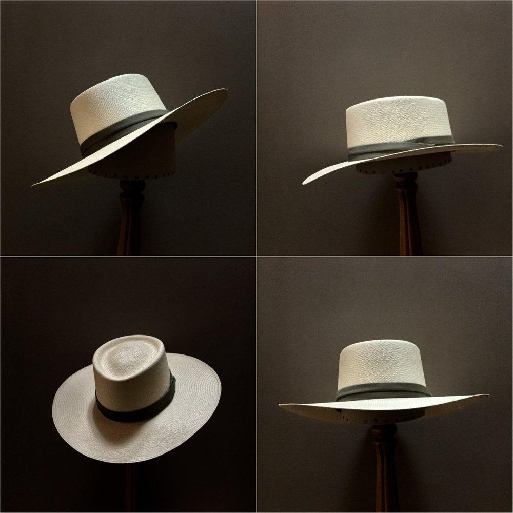 Weave: Cuenca Grade: 10 Brim Set: #23 Trim: Cotton Puggaree