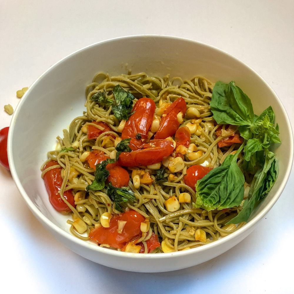 jessi fit pilates explore cuisine recipe dry roasted corn & tomato sauce