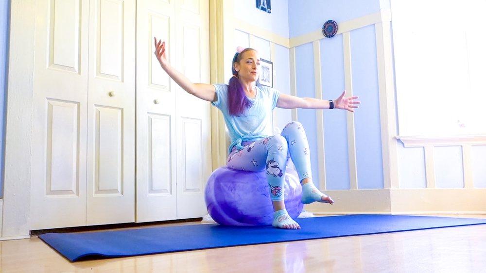 balance ball workout jessi fit pilates
