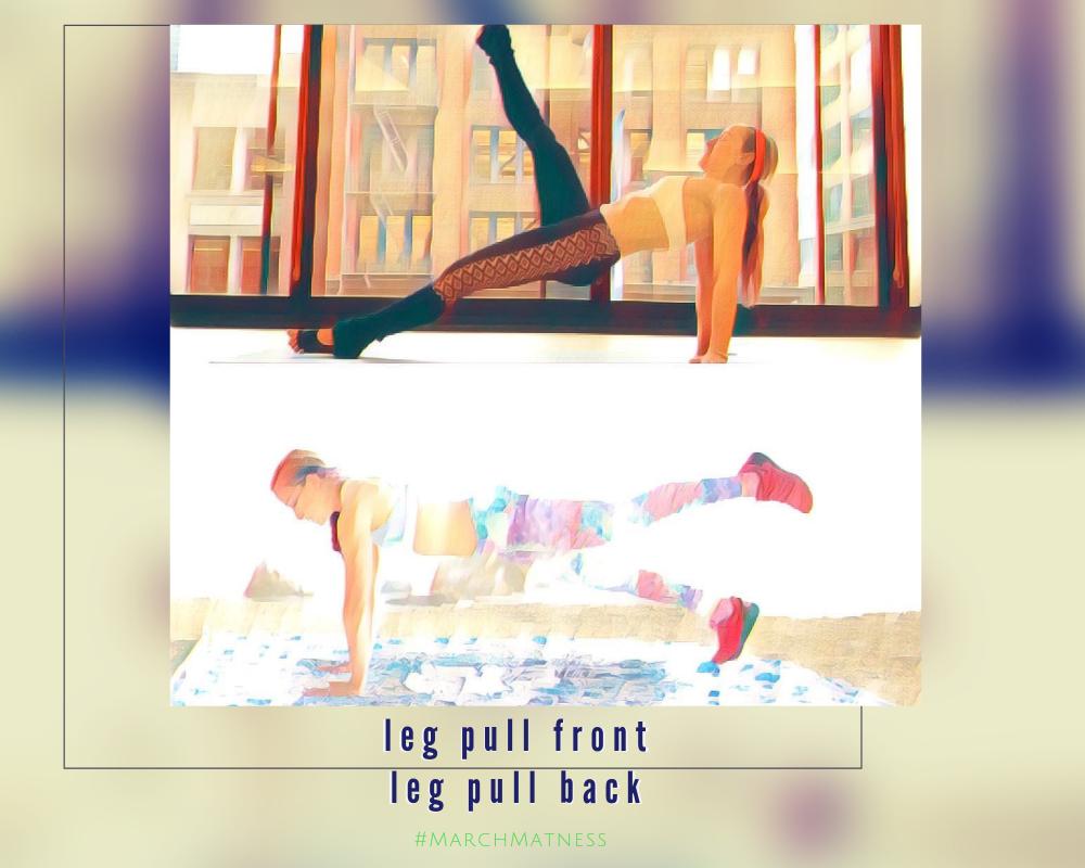 pilates blog for pilates march matness 2019  leg pull front leg pull back