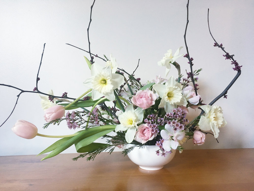 Early Spring Foraged Arrangement