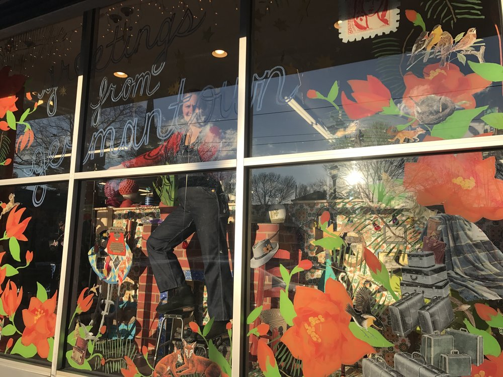 Seasonal Storefront Window Art By >> Commercial Art Emily Birdie Busch