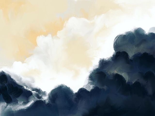 A quick painting of what the weather has felt like lately. The sun in Central Florida disappears quickly on a rainy afternoon. 💨🌦 #clouds #sky #sketchdaily #illustration #cloudscape #skyline #painting #outdoors #landscape #skyscape #art #artdaily #painter #drawing #sketch #sketching #design #procreate #abstract #abstractart