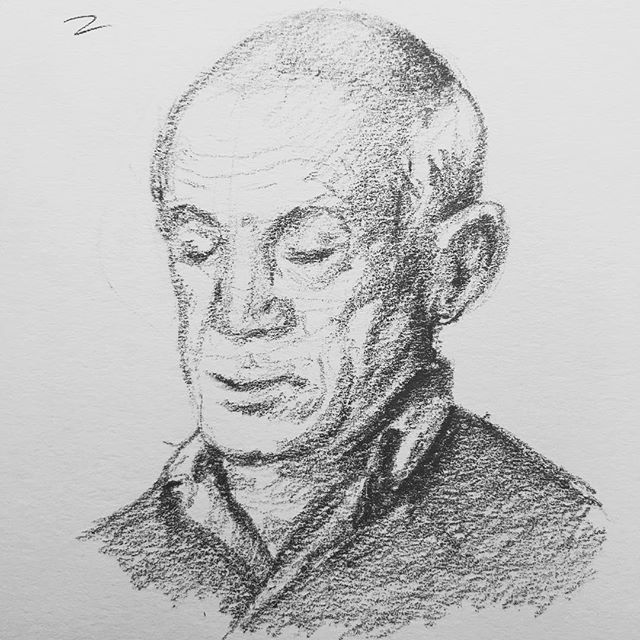 I'm not feeling quite like Pablo yet, but I'm getting there. ✍🏼#Picasso #sketch #artdaily #sketching #sketchdaily #sketchbook #drawing #pablopicasso #graphite #portrait #study