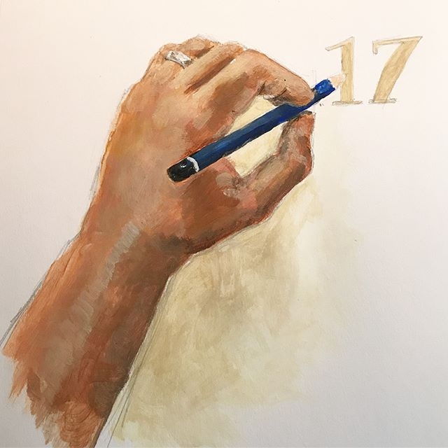 Rough painted sketch for the cover of a new sketch book. The final version of this will be painted on the actual book cover. Swipe to see earlier rough sketches! ✍🏼🎨 ----- #painter #painting #art #artdaily #realism #plainair #acrylicpainting #sketching #sketchbook #artist #design #designer #sketch #drawing #acrylic #shading #pencil #process #WIP #lefty #concept
