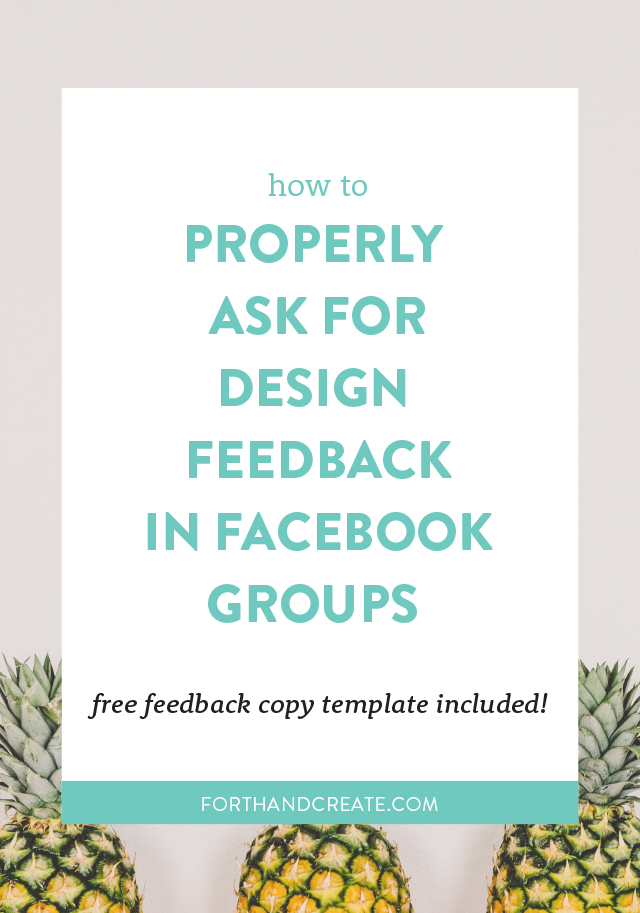 How to get the proper design feedback