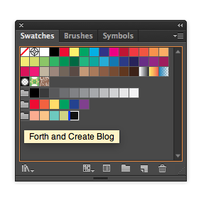 Creating a colour palette in Illustrator