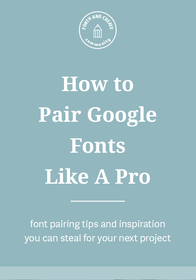 Pairing Google Fonts