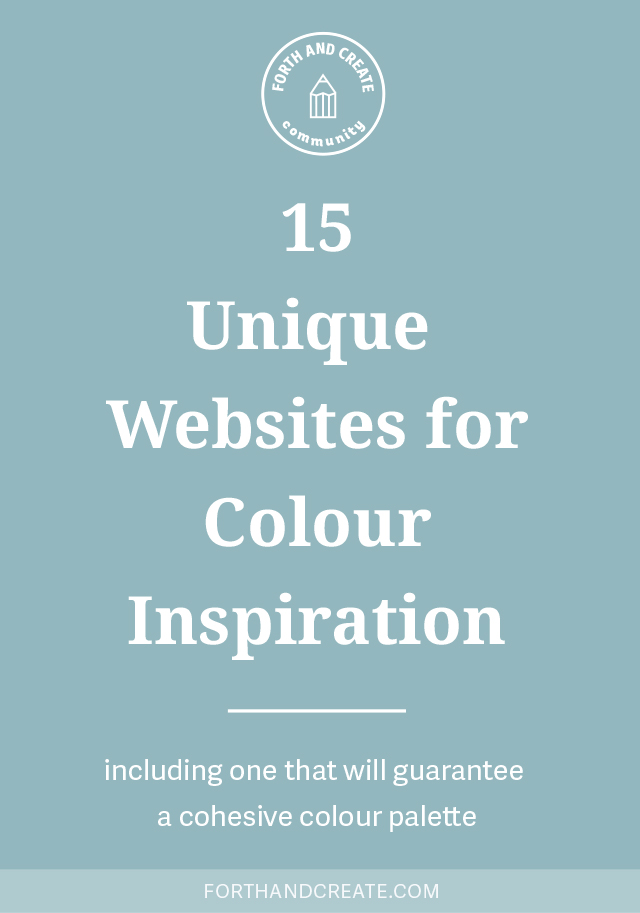 Click through for 15 unique websites to find colour inspiration and colour palettes for your brand or next design project.
