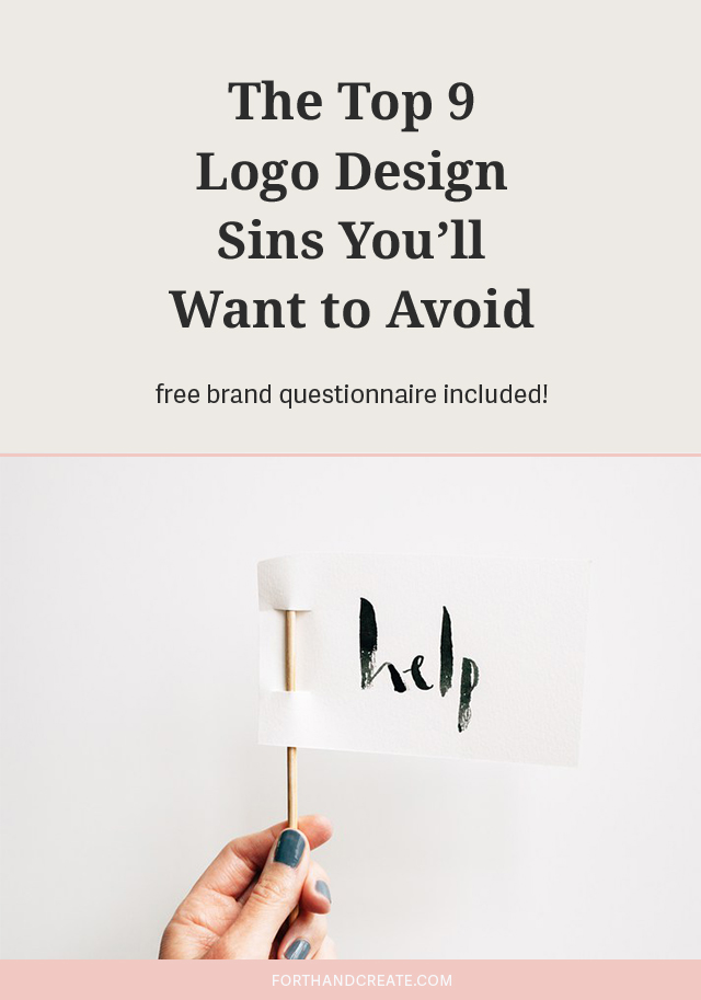 Click through to read the top 10 logo design sins you'll want to avoid. Free checklist included!