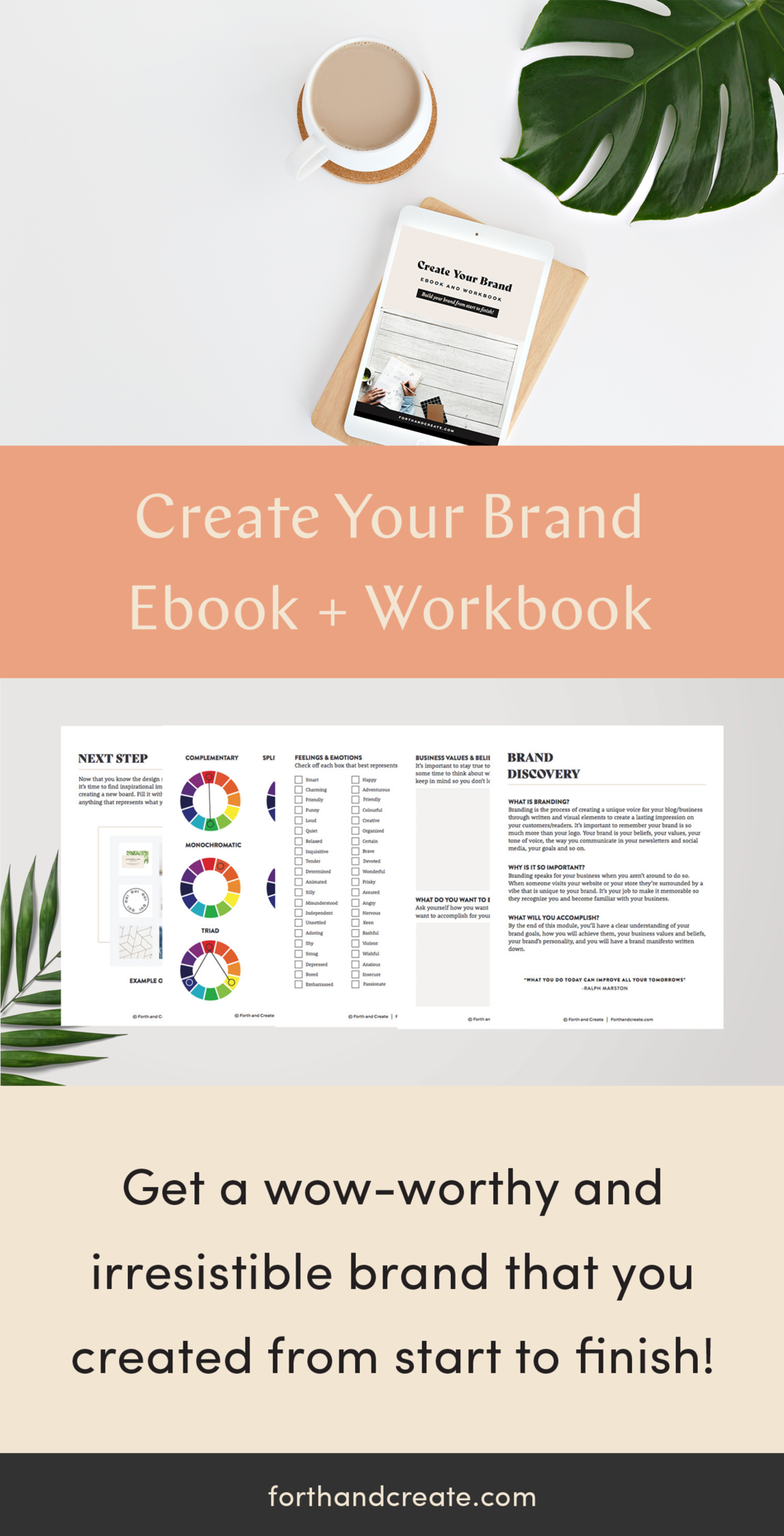 Create Your Brand Ebook and Workbook will help you get a wow-worthy and irresistible brand that you created from start to finish. Get brand and design help with my brand ebook. #brand #brandidentity #ebook #designebook #designworkbook #buildyourbrand