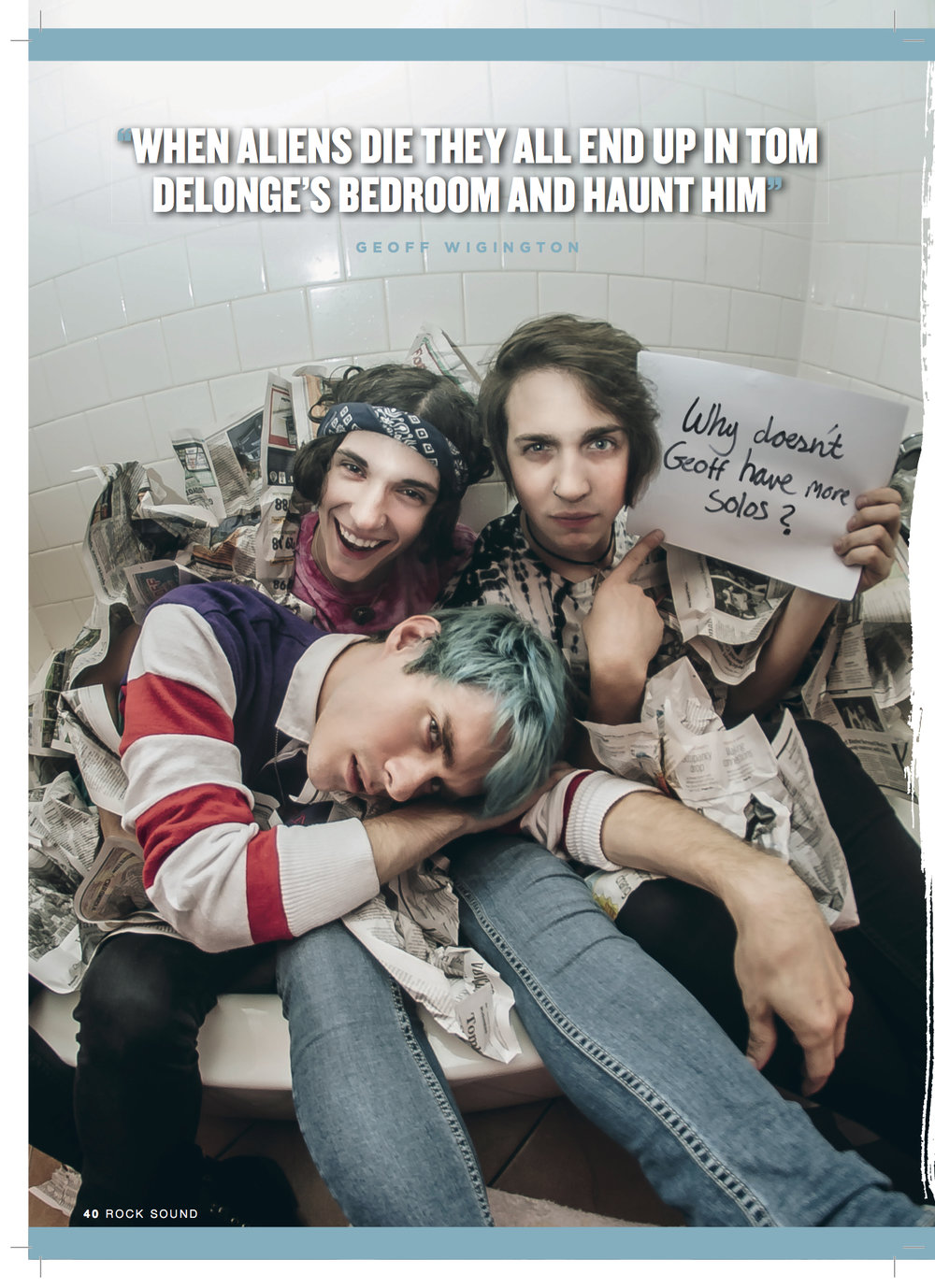 WATERPARKS FOR ROCK SOUND MAGAZINE