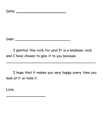 Younger children will be given this template for their letter. Older children will use a graphic organizer to get their writing thoughts flowing.
