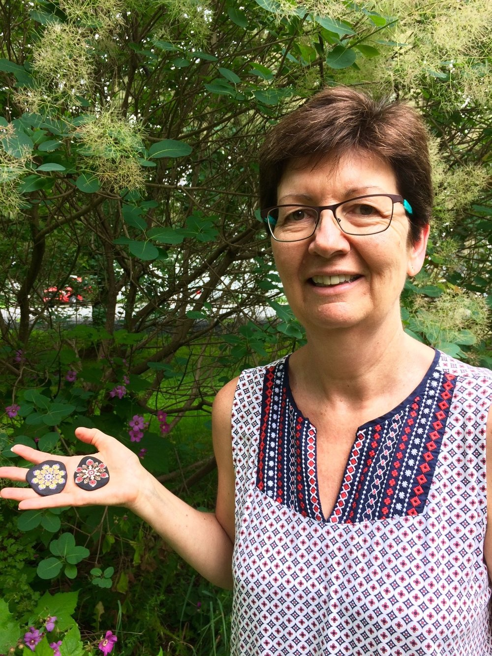 Sue's first Travelling Kindness Rock was mailed in July 2017.