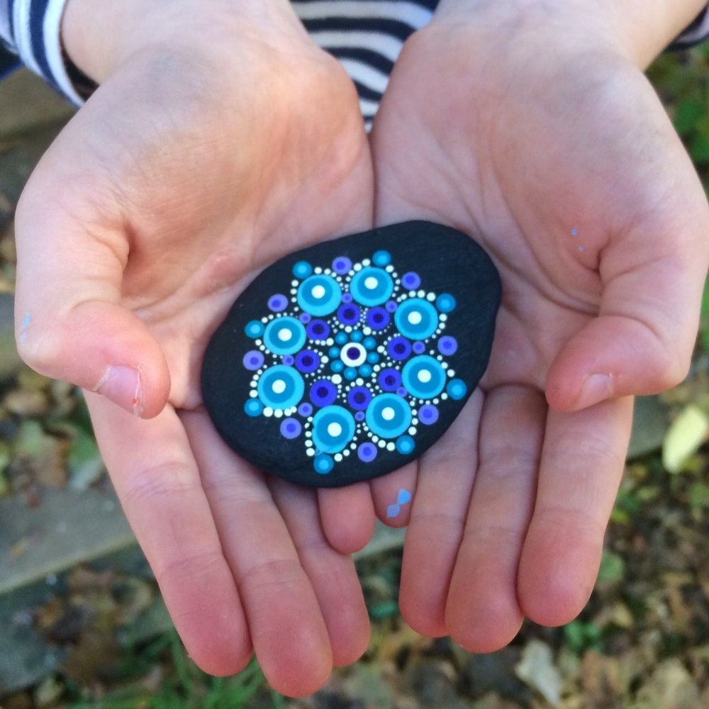 Adrienne's first Travelling Kindness Rocks were mailed in October 2017.