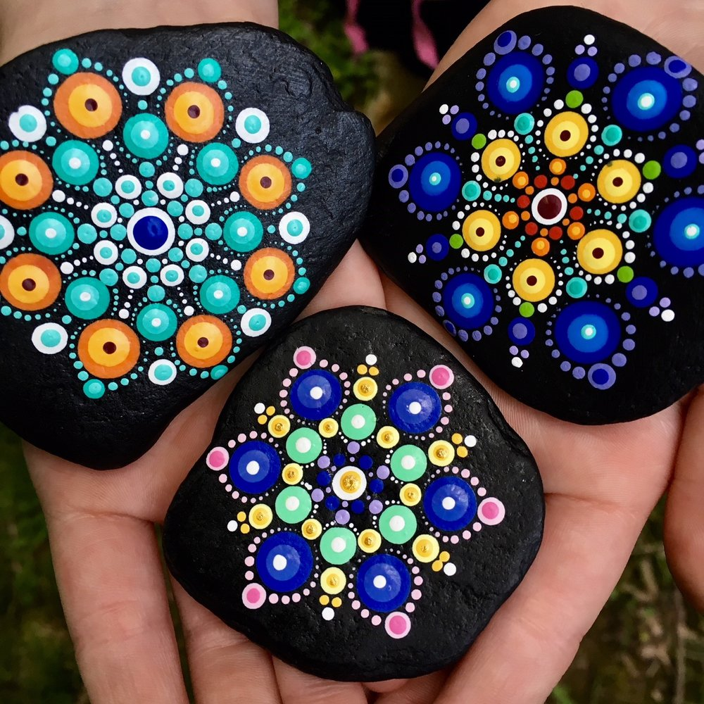You are part of the dots - A percentage of every purchase supports the journeys of the Travelling Kindness Rocks