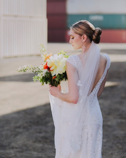 Classic Chignon, perfect for a dress with a detailed or open back! . . Photography, Flowers @olivestudiocanada  Dress @leaannbelterbridal  Stylist @jenchoystyle  Model @savdimuccio  Accessories @theloved_one  Hair and Makeup @barnonebeauty . . .  #weddingbeauty #weddinghair #weddingchignon #weddingupdo #weddings #torontowedding #weddingstoronto #weddingmakeup #weddingmakeuptoronto #toronto #mississauga