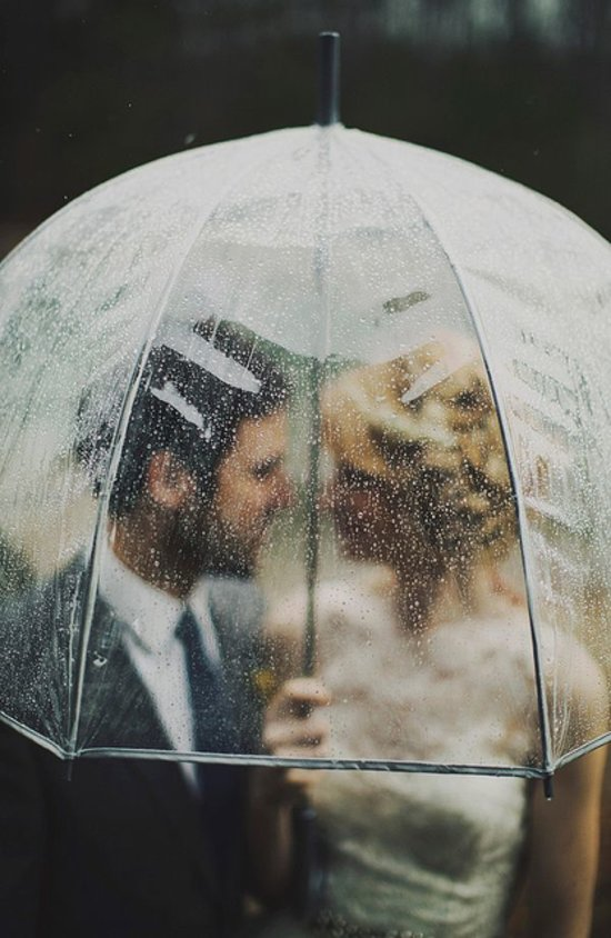 Love under umbrella