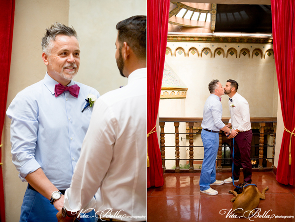 santa barbara courthouse gay wedding elopement