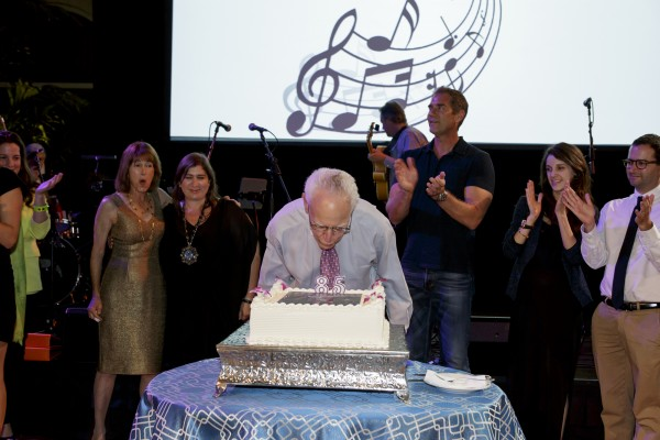 Michael Towbes Birthday 85th blowing out candles
