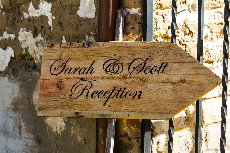 Sarah and Scott Reception Sign