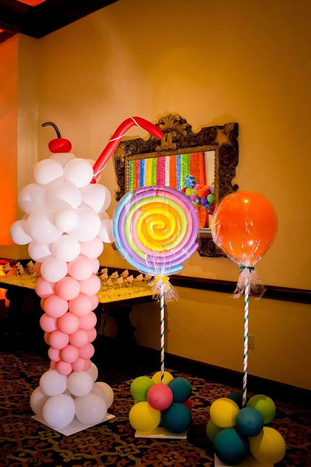 balloon decor ideas candy bar theme kid party