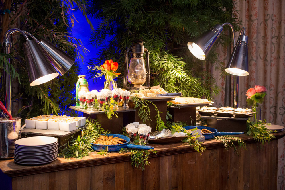 Bar Mitzvah Felici Events Camping Themed Dessert Station Marshmallow Chocolate Fruits Cookies