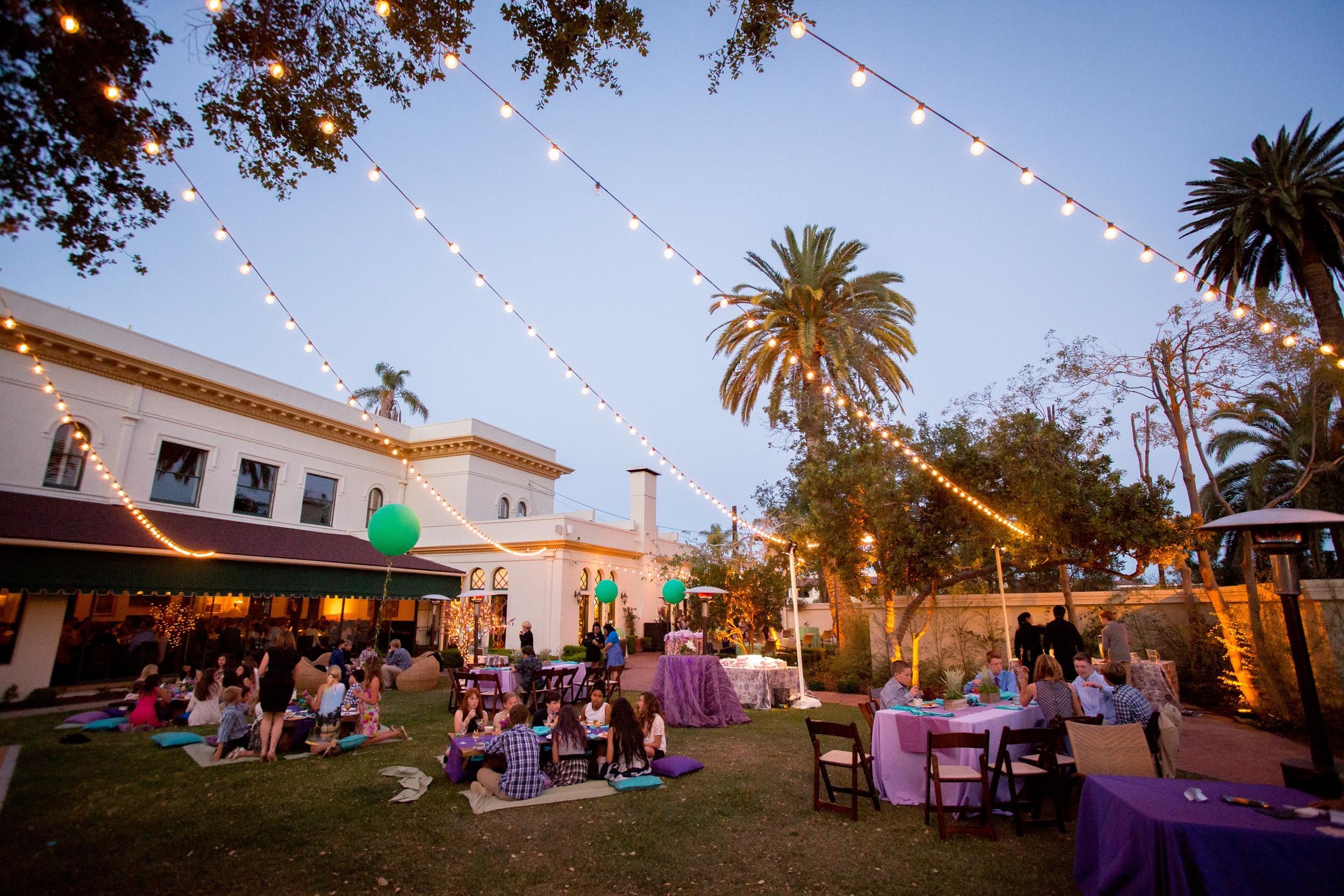 felici events blue purple teal u003d bat mitzvah garden party appeal