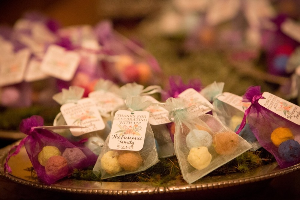 Felici Events Bat Mitzvah Thank You Favor Organza Bags Seed Bombs