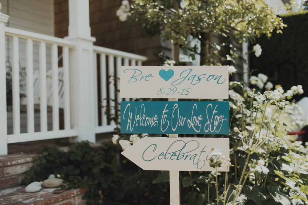 Felici Events Wedding Beach Welcome Sign