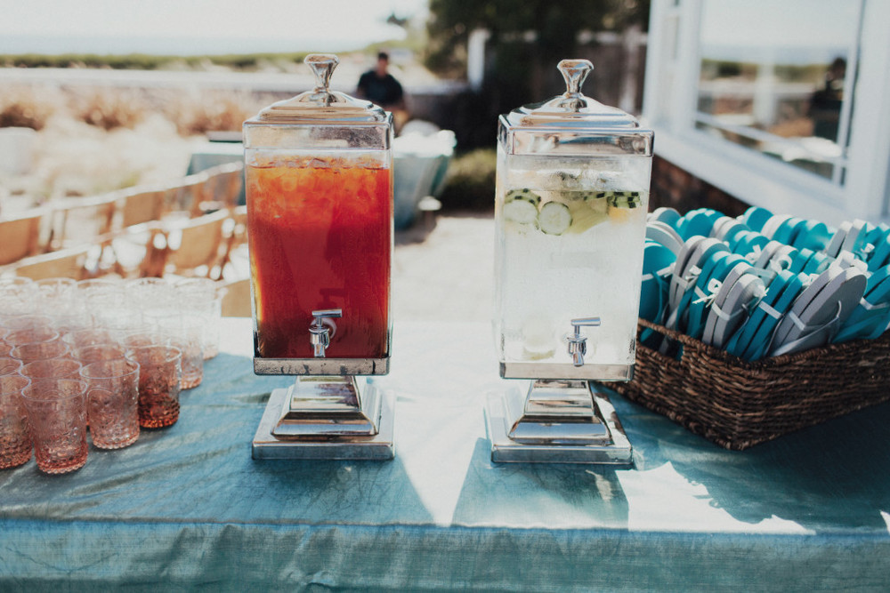 Felici Events Wedding Beverages Glassware Cocktail Flip Flops