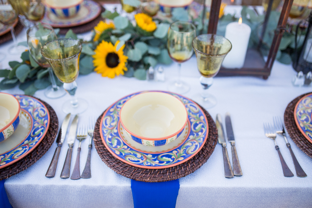 A Huge Thank You To Our Vendors With Tuscan Table Setting Ideas