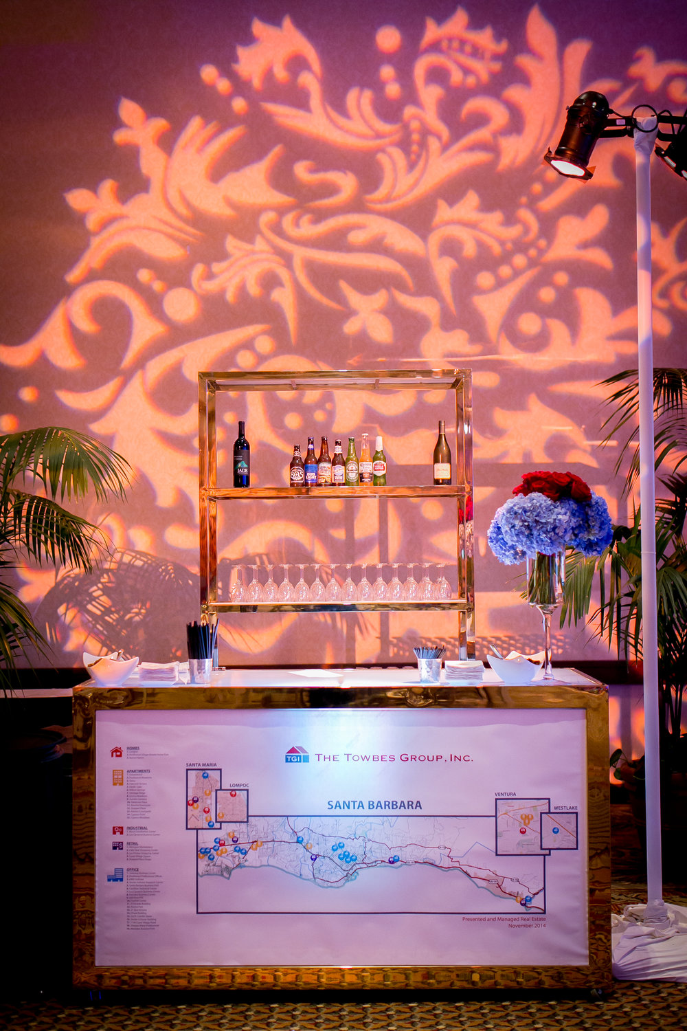 Felici Events | Planner | Fess Parker A Doubletree By Hilton Resort | 60th Anniversary Celebration | Construction Theme | Bar