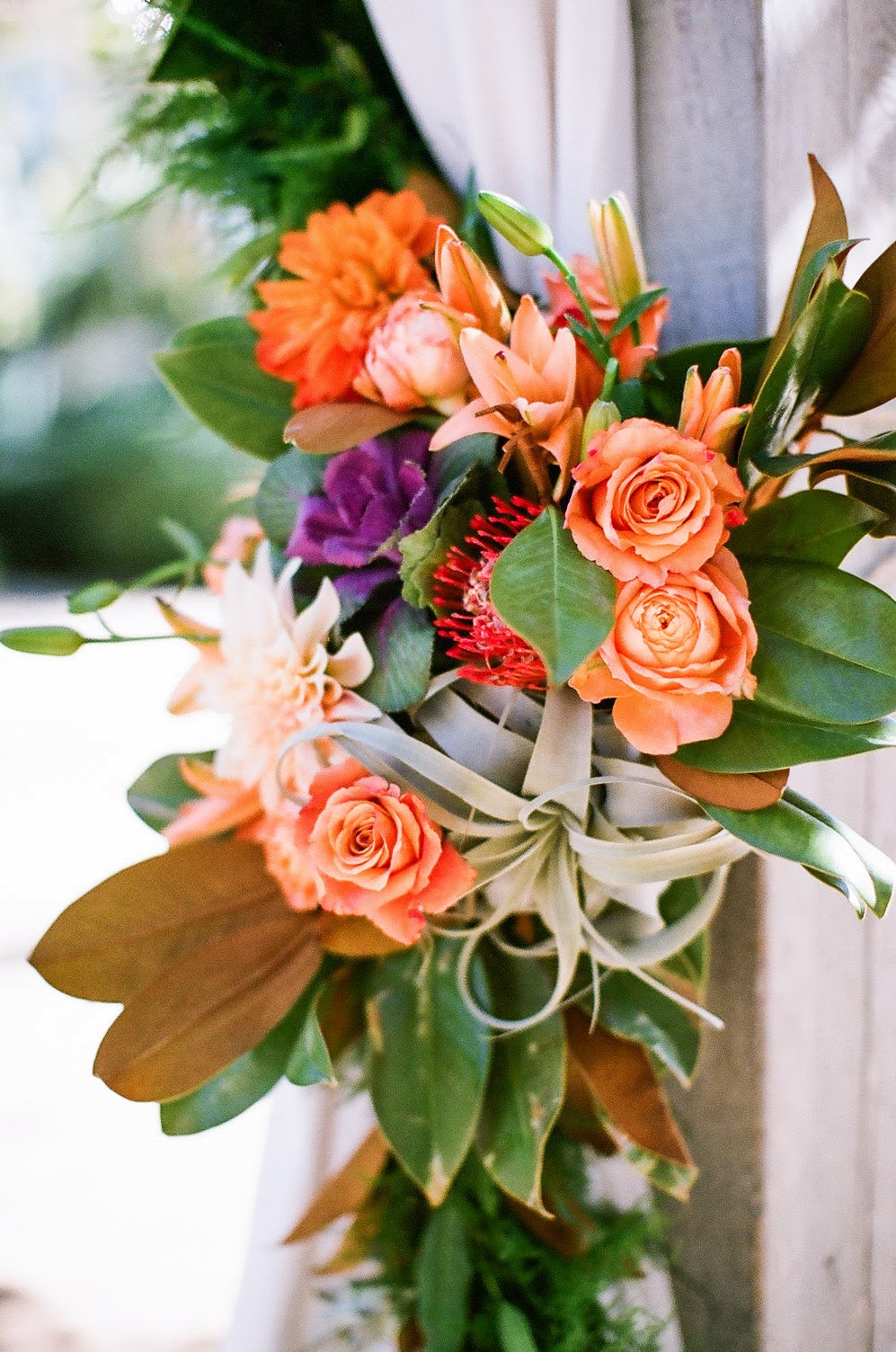 www.felicievents.com | Felici Events | Historical Museum Wedding | Eclectic Orange Wedding | Ceremony Altar Ideas
