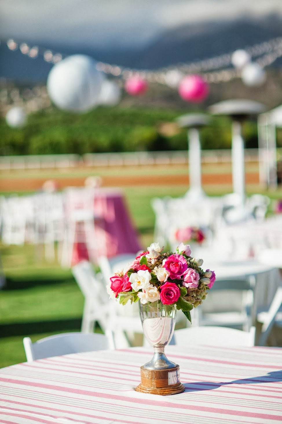 www.FeliciEvents | Pink Polo Party | Funraising Event | Felici Fundraiser | Polo Theme | Clarissa Koenig Photography |  Pink Flowers | Pink Lanterns