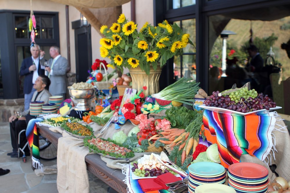 www.felicievents.com | hacienda fiesta | Mexican Party | Dinner Station