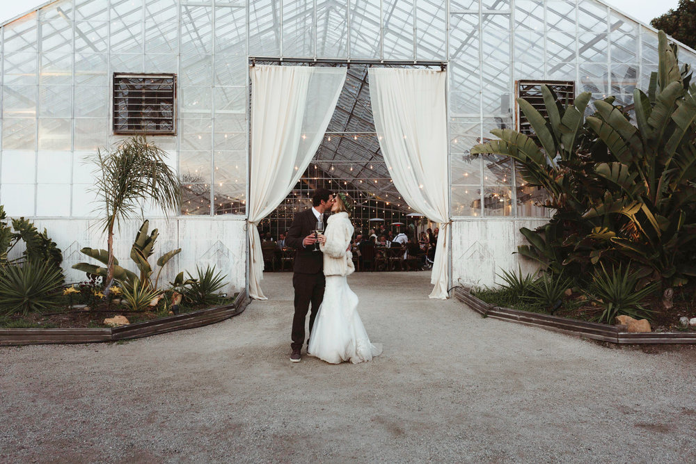 Felici Events | Gaviota Coast | Wedding Ceremony | Oceanfront | Santa Barbara | Clarissa Koenig Photographer | #FeliciWedding | Orchid Farm | Wedding Entrance | Greenhouse