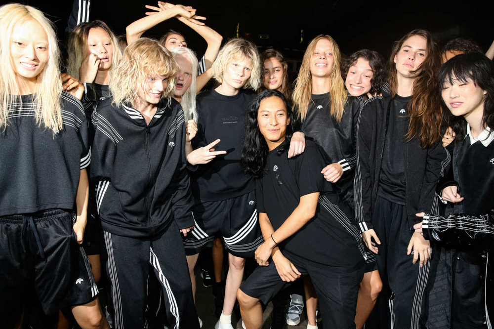 AW and his model squad. Not pictured: Madonna in her Alexander Wang for Adidas Originals track jacket. Image: nymag.com.