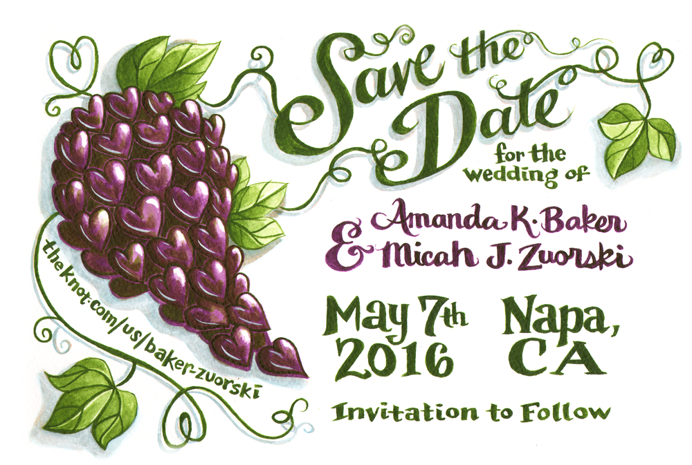 Save the Date cards for my 2016 wedding.